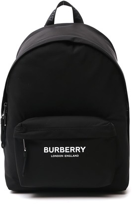 Burberry Logo Printed Backpack