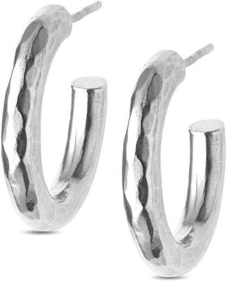 Eva Remenyi Hammered Circle Hoops - Silver