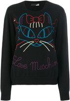 Love Moschino cat intarsia jumper