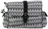 Kalencom Diaper Bag, A Step Above Ripple Black/White by