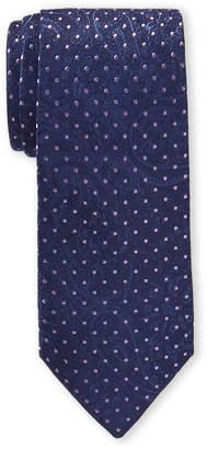 Michael Kors Purple Paisley Dot Silk Tie