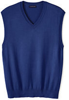 Lands' End Men's Performance Sweater Vest-Dark Cobalt Blue