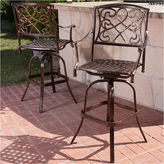 Asstd National Brand Santa Maria Set of 2 Outdoor Iron Barstools