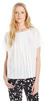 French Connection Women's Polly Pleats Short Sleeve Top