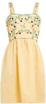 Muzungu Sisters - Marigold Embroidered Cotton-blend Dress - Womens - Yellow Multi