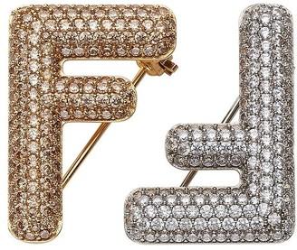 Fendi Baguette two-piece brooch