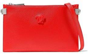 Versace Logo-embellished Textured-leather Pouch
