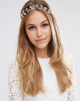 Asos WEDDING Faux Pearl and Beaded Hair Crown