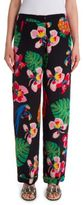 Valentino Tropical Dream Silk Pajama Pants
