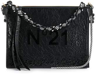 No.21 wrinkled effect shoulder bag