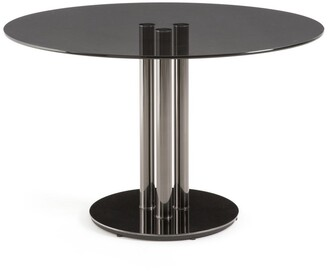 La Redoute La Neso Round Dining Table in Tempered Glass