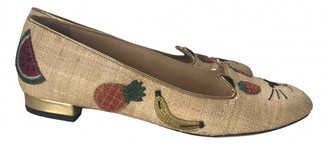 Charlotte Olympia Kitty Multicolour Leather Ballet flats