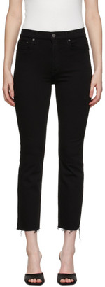 GRLFRND Black Raw Cuff Reed Jeans
