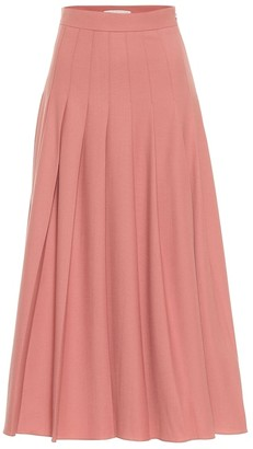 Emilia Wickstead Gretchen pleated gabardine maxi skirt