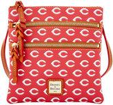 Dooney & Bourke Cincinnati Reds Triple Zip Crossbody Bag