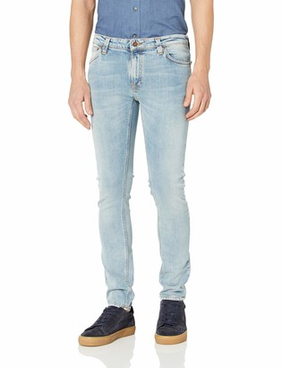 Nudie Jeans Men's Skinny Lin Light Blue Pwr 33/32