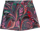 Emilio Pucci Printed cotton-voile shorts