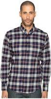 Naked & Famous Denim Real Indigo Flannel Button Down Men's Clothing