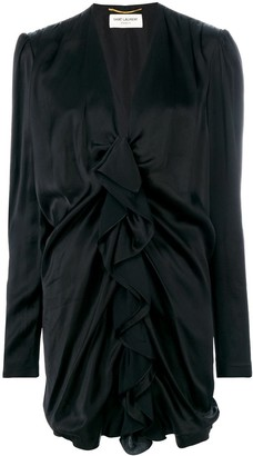 Saint Laurent ruched mini dress