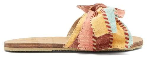 Ace&Jig Brother Vellies - X Burkina Leather And Canvas Slides - Womens - Multi