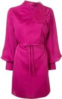 Puffed Sleeve Mini Dress