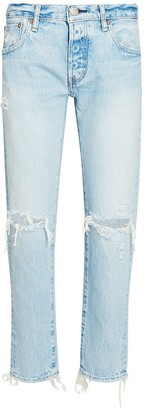 Moussy Yardley Cropped Tapered Jeans