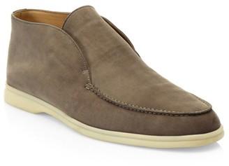 Loro Piana Suede Derby Shoes