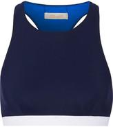 Diane von Furstenberg Racer-back Bikini Top - Navy