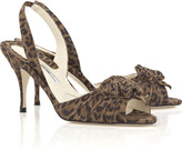 Brian Atwood Duchess leopard suede slingbacks