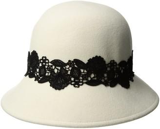 San Diego Hat Company Women's 2.5 Inch Brim Coche with Black Lace Trim