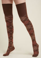 OK0032 You'll discover more than a great ensemble accent in these brown thigh highs - you're sure to find a fashionable friend, too! In an over-the-knee silhouette you can rely on for classic, vintage-inspired looks and quirky-leaning numbers alike, this argyle