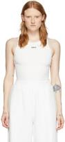 Off-White Off White White Open-Back Bodysuit