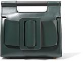 Boyy Romeo Small Buckled Leather Clutch - Emerald