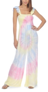 Raviya Tie-Dye Jumpsuit Cover-Up Women's Swimsuit