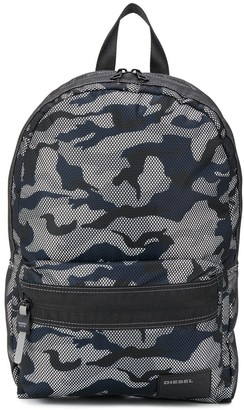 Diesel Camouflage-Print Backpack