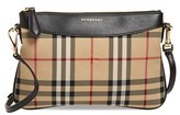 Burberry 'Peyton - Horseferry Check' Crossbody Bag - Black