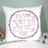 Modo creative Personalised Baby's Birth Cushion
