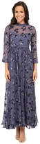 Rebecca Taylor Long Sleeve Alyssum Print Maxi Dress