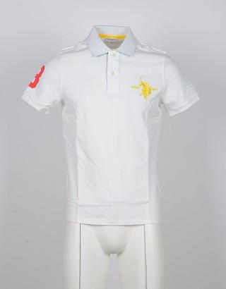 U.S. Polo Assn. White Cotton Men's Polo Shirt