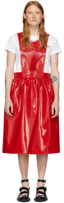 Comme des Garcons Red Patent Faux-Leather Dress