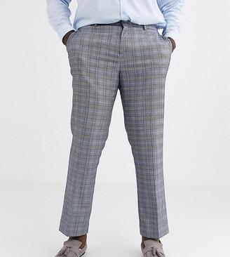 Jacamo regular fit suit trouser in grey check