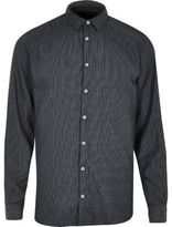 River Island MensCharcoal grey Vito shirt