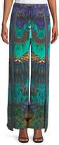 Camilla Embellished Silk Split-Leg Drawstring Pants