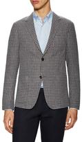 Z Zegna Wool Checkered Notch Lapel Blazer