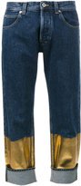 Loewe contrast panel boyfriend jeans - women - Cotton - 38