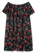 Vince Camuto Floral-print Off-the-shoulder Dress