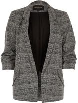 River Island Womens Black check blazer