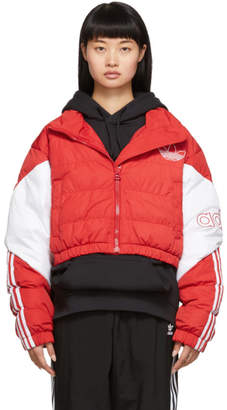 adidas Red Cropped Down Jacket