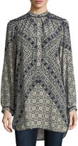 Tolani Natasha Long-Sleeve Geometric-Print Tunic, Plus Size