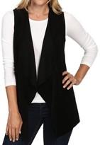 Calvin Klein Womens Suede Drape Casual Vest